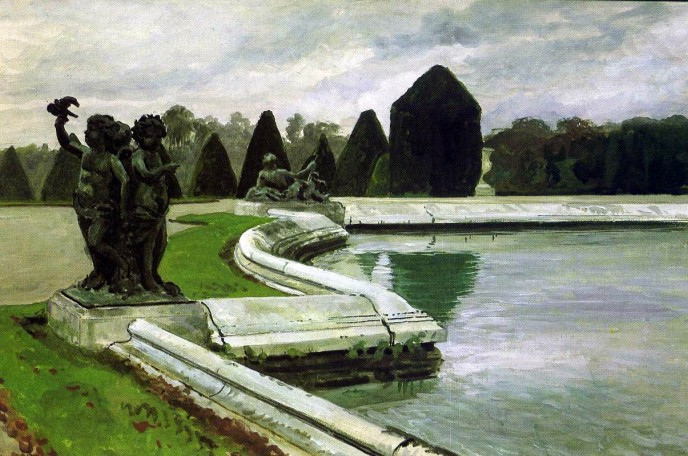Lake in the Park at Versailles. Alexander Nikolayevich BENOIS