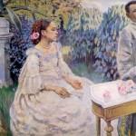 Self-Portrait with Sister. Viktor Elpidiforovich BORISOV-MUSATOV