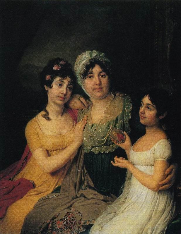 Portrait of A.I. Bezborodko with Daughters. Vladimir Lukich BOROVIKOVSKY