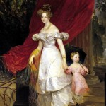 Portrait of Grand Duchess Elena Pavlovna and Her Daughter Maria. Karl Pavlovich BRYULLOV