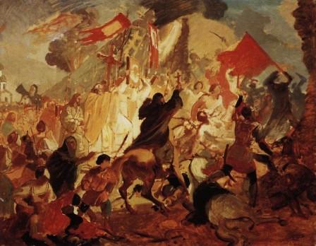Siege of Pskov by Polish King Stefan Batory in 1581. Karl Pavlovich BRYULLOV
