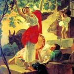 Girl, gathering grapes in the vicinity of Naples. Karl Pavlovich BRYULLOV