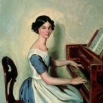 N.P. Zhdanovich at the Piano. Pavel Andreyevich FEDOTOV