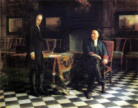 Peter the Great Interrogates Tsarevich Alexei. Nikolai Nikolayevich GHE