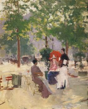 A Paris Cafe. Konstantin Alexeyevich KOROVIN
