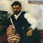 V. A. Serov. Portrait of K. A. Korovin