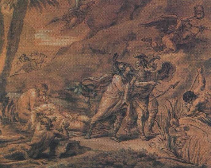 Theseus Deserting Ariadne. Mikhail Ivanovich KOZLOVSKY