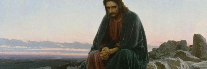 Christ in the Wilderness. Ivan Nikolayevich KRAMSKOI