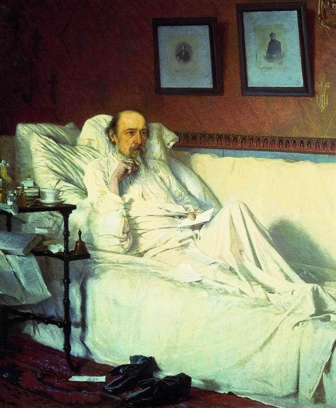 Nekrasov at the Time of 'The Last Songs'. Ivan Nikolayevich KRAMSKOI