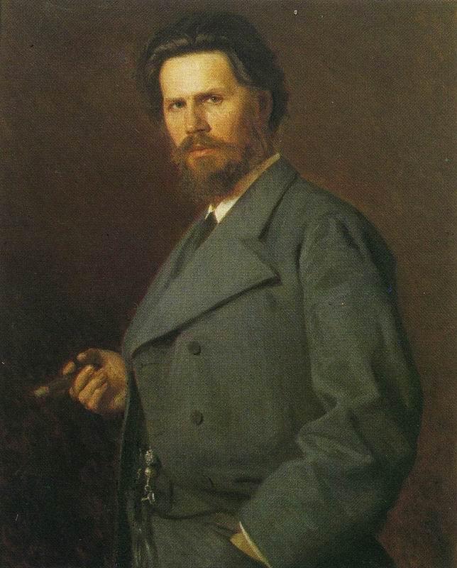 N. A. Yaroshenko. Portrait of I. N. Kramskoi