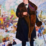 Portrait of F.I. Chaliapin. Boris KUSTODIEV