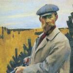 Self-Portrait. Hunting. Boris Mikhailovich KUSTODIEV