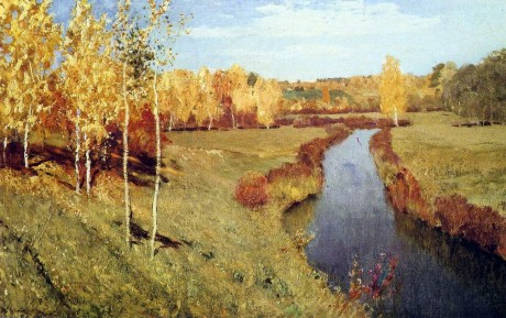 Golden Autumn. Isaak Ilyich LEVITAN
