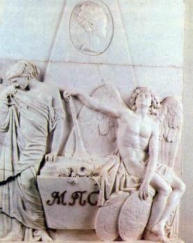 Tombstone for M.P. Sobakina. Ivan Petrovich MARTOS