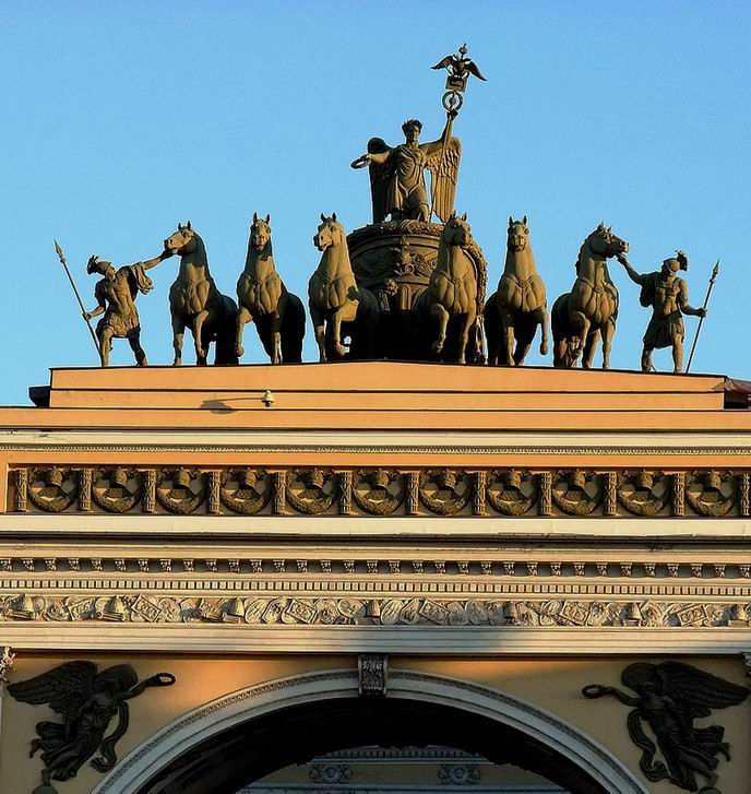 Sculptured group on the Arch of the General Staff. Stepan Stepanovich PIMENOV