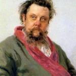 Portrait of M. P. Mussorgsky. Ilya Yefimovich REPIN