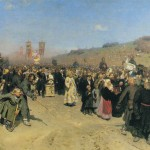 A Religious Procession in Kursk Gubernia. Ilya Yefimovich REPIN
