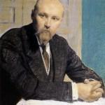 B. M. Kustodiev. Portrait of N. K. Roerich