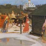 A Wedding Procession in Moscow (17th century). Andrei Petrovich RYABUSHKIN