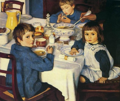 At Dinner. Zinaida Yevgenyevna SEREBRYAKOVA