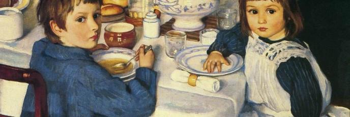 At Dinner. Zinaida Yevgenyevna SEREBRYAKOVA
