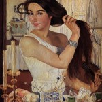 At the Dressing-Table. Self-Portrait. Zinaida Yevgenyevna SEREBRYAKOVA