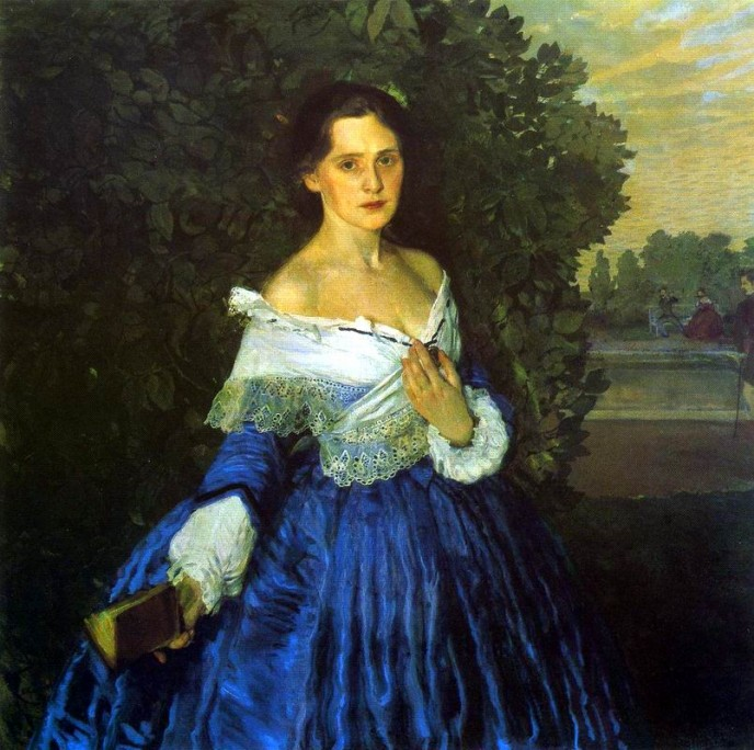 Lady in Blue. Konstantin Andreyevich SOMOV