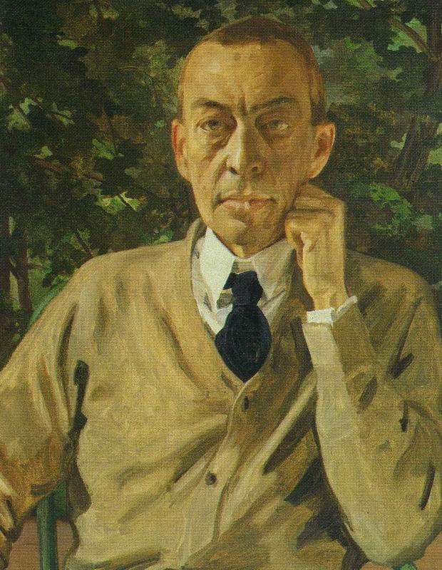 Portrait of the Composer S. V. Rakhmaninov. Konstantin Andreyevich SOMOV