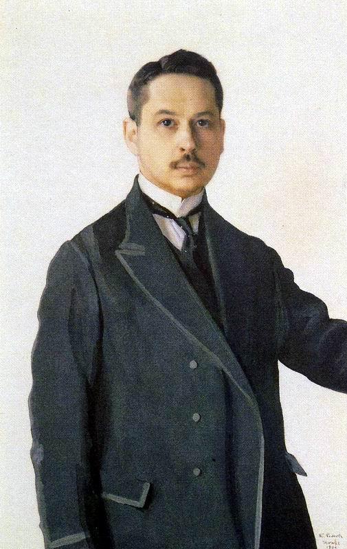 Self-Portrait. Konstantin Andreyevich SOMOV