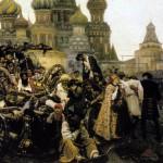 The Morning of the Streltsi's Execution. Vasily Ivanovich SURIKOV