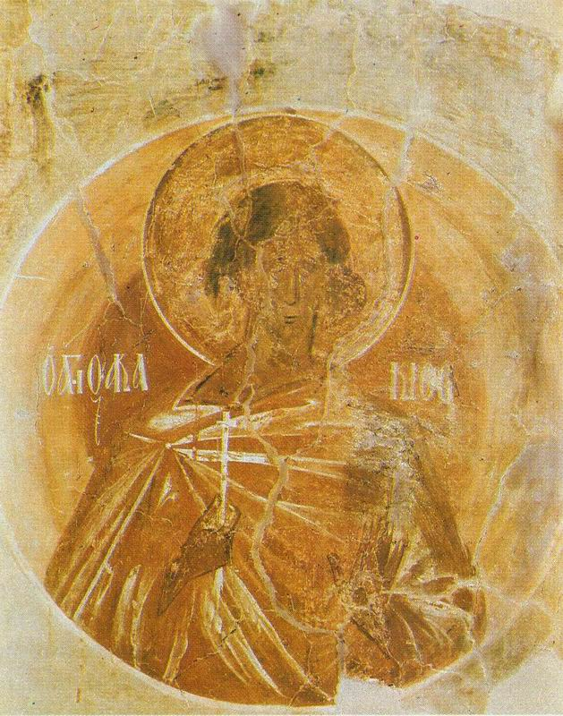 St. Akaky, fresco in the Church of Our Savior, Ilyin Street, Novgorod. Theophanes the GREEK