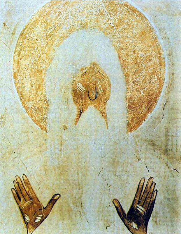 St. Makary of the Egypt, fresco in the Church of Our Savior, Ilyin Street, Novgorod. Theophanes the GREEK