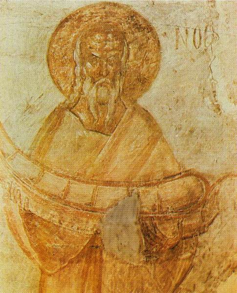 Noah, fresco in the Church of Our Savior, Ilyin Street, Novgorod. Theophanes the GREEK