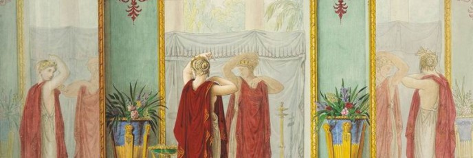 Psyche Admiring Her Reflection in a Mirror. Fyodor Petrovich TOLSTOY