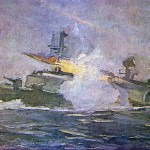 Missile boats manoeuvres. Fyodor Pavlovich USYPENKO