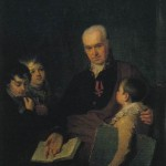 Portrait of K.I. Golovachevsky, Inspector of the Academy of Arts, with Three Pupils. Alexei Gavrilovich VENETSIANOV