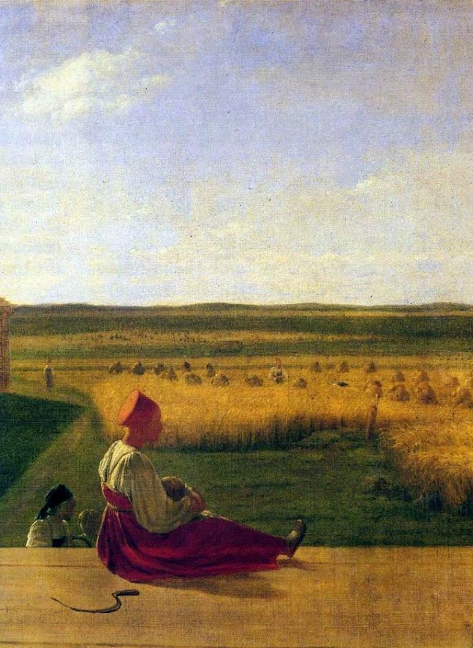 Harvesting in Summer. Alexei Gavrilovich VENETSIANOV